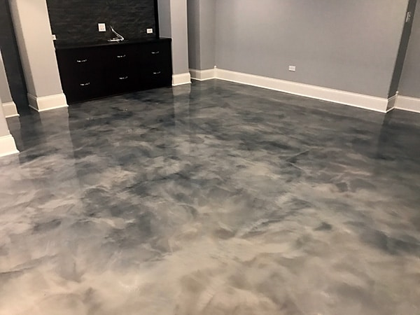 epoxy garage floor in Chicago